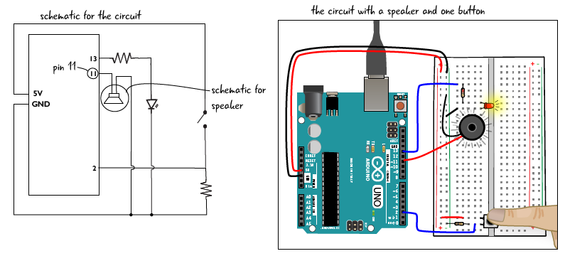 Chapter add a speaker and adjust the code arduino to go