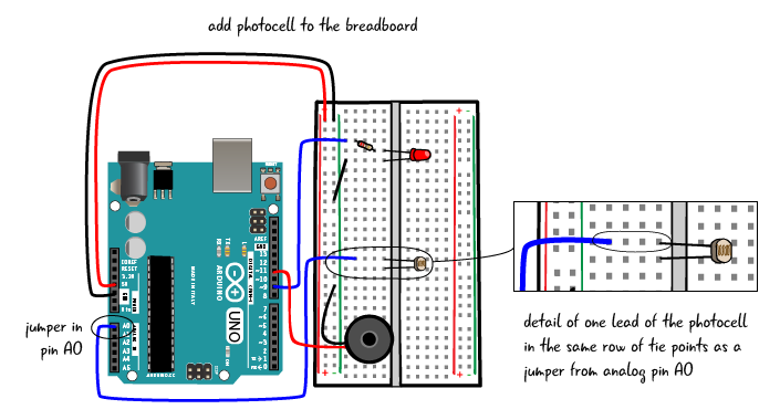 Chapter 6: Adding the photocell | Arduino to Go